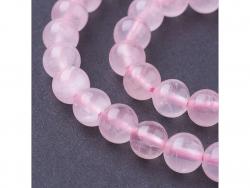 Acheter Lot de 25 perles naturelles 4 mm - Quartz rose - 2,09€ en ligne sur La Petite Epicerie - Loisirs créatifs