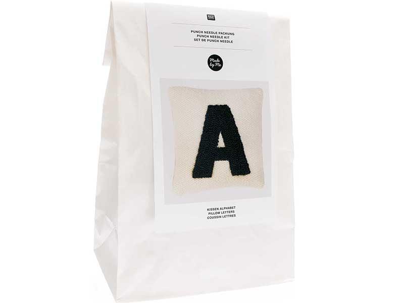 Acheter Kit punch needle - Coussin lettre A - 44,99€ en ligne sur La Petite Epicerie - Loisirs créatifs