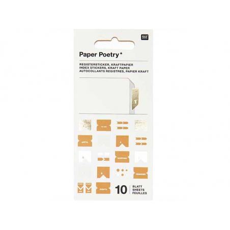 Acheter Stickers autocollants - Papier kraft - 7,29€ en ligne sur La Petite Epicerie - Loisirs créatifs