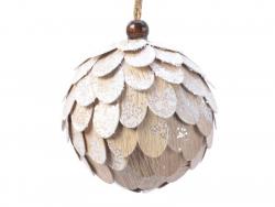 Acheter Boule de Noël à écailles - blanche - 8 cm - 2,99€ en ligne sur La Petite Epicerie - Loisirs créatifs