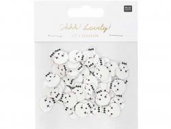 Acheter 48 confettis en bois - Tête de mort - 4,19€ en ligne sur La Petite Epicerie - Loisirs créatifs