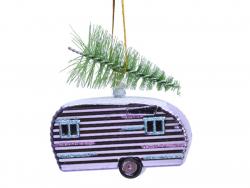 Acheter Boule de Noël caravane airstream - rose - 2,99€ en ligne sur La Petite Epicerie - Loisirs créatifs