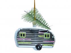 Acheter Boule de Noël caravane airstream - bleue - 2,99€ en ligne sur La Petite Epicerie - Loisirs créatifs