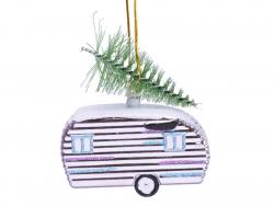 Acheter Boule de Noël caravane airstream - rose pâle - 2,99€ en ligne sur La Petite Epicerie - Loisirs créatifs