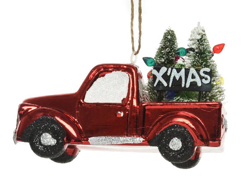 Acheter Boule de Noël - voiture truck transportant un sapin - 3,99€ en ligne sur La Petite Epicerie - Loisirs créatifs
