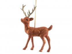 Acheter Déco de noël - suspension biche à paillettes cuivrée - 2,99€ en ligne sur La Petite Epicerie - Loisirs créatifs