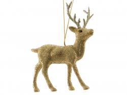 Acheter Déco de noël - suspension biche à paillettes dorées - 2,99€ en ligne sur La Petite Epicerie - Loisirs créatifs