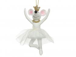 Acheter boule de noël suspension petite souris qui danse - deux bras levés - 4,49€ en ligne sur La Petite Epicerie - Loisirs...