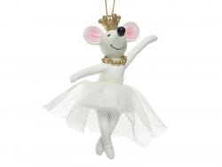 Acheter boule de noël suspension petite souris qui danse un ballet - 4,49€ en ligne sur La Petite Epicerie - Loisirs créatifs