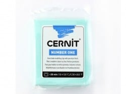 CERNIT clay Basic Number One - mint green, 50 % opacity