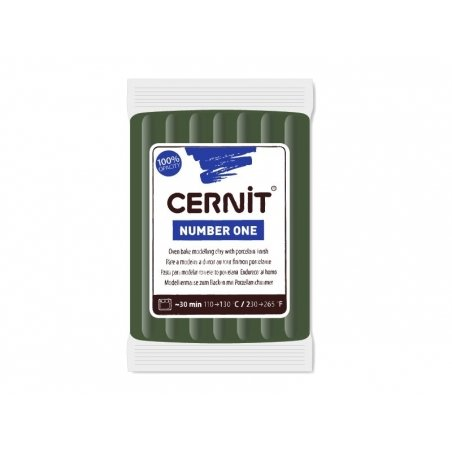 CERNIT clay Basic Number One - olive green