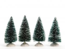 Acheter Lot de 4 petites sapins - 10 cm - 4,49€ en ligne sur La Petite Epicerie - Loisirs créatifs