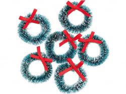 Acheter Lot de 6 mini couronnes de Noël - 4,79€ en ligne sur La Petite Epicerie - Loisirs créatifs