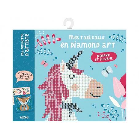 Acheter Mes tableaux en diamond art - Renard et licorne - 7,90€ en ligne sur La Petite Epicerie - Loisirs créatifs