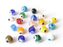 Acheter Lot de 20 perles rondes en verre - œil turc - 2,99€ en ligne sur La Petite Epicerie - Loisirs créatifs