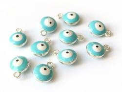 Acheter Lot de 10 breloques œil turc - argenté - 2,49€ en ligne sur La Petite Epicerie - Loisirs créatifs