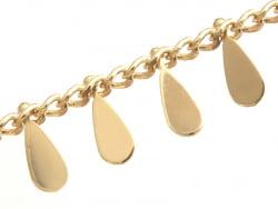 Acheter Chaine breloques gouttes - doré à l'or fin 18K x 20 cm - 4,49€ en ligne sur La Petite Epicerie - Loisirs créatifs