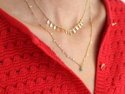 Acheter Chaine alternance de petites pampilles - doré à l'or fin 18K x 20 cm - 4,19€ en ligne sur La Petite Epicerie - Loisi...