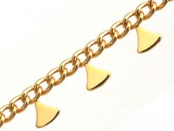 Acheter Chaine triangles ethnique - doré à l'or fin 18K x 20 cm - 4,49€ en ligne sur La Petite Epicerie - Loisirs créatifs