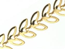 Acheter Chaine épi évidée - doré à l'or fin 18K x 20 cm - 2,99€ en ligne sur La Petite Epicerie - Loisirs créatifs