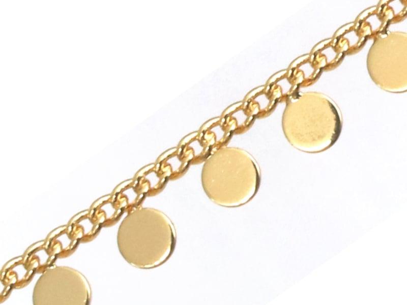 Acheter Chaine petits pampilles rondes - doré à l'or fin 18K x 20 cm - 4,99€ en ligne sur La Petite Epicerie - Loisirs créatifs