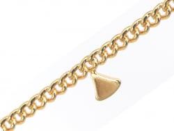 Acheter Chaine petits triangles espacés - doré à l'or fin 18K x 20 cm - 3,79€ en ligne sur La Petite Epicerie - Loisirs créa...