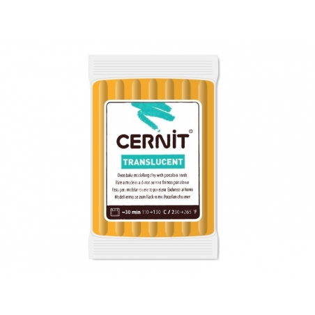 Pâte CERNIT Translucent - Ambre