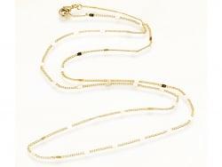 Acheter Collier 45 cm - chaîne nuage - doré à l'or fin 24 K - 2,39€ en ligne sur La Petite Epicerie - Loisirs créatifs