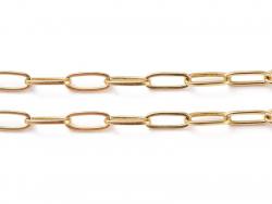 Acheter Chaîne trombone - 6 x 2 mm - doré à l'or fin 18K x 20 cm - 2,19€ en ligne sur La Petite Epicerie - Loisirs créatifs