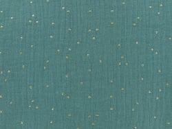 Acheter Double gaze gaufrée à pois dorés - Eucalyptus - 0,99€ en ligne sur La Petite Epicerie - Loisirs créatifs