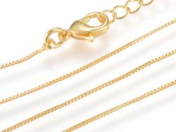 Acheter Collier 40 cm - chaine vénitienne - doré à l'or fin 18K - 3,39€ en ligne sur La Petite Epicerie - Loisirs créatifs