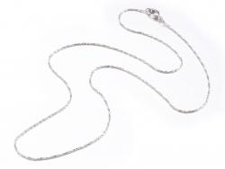 Acheter Collier 44,5 cm - chaîne serpentine - plaqué platine - 3,59€ en ligne sur La Petite Epicerie - Loisirs créatifs
