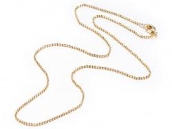 Acheter Collier 44,5 cm - chaîne bille - doré à l'or fin 18 K - 3,59€ en ligne sur La Petite Epicerie - Loisirs créatifs