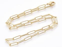 Acheter Collier 46 cm - chaîne trombone - doré à l'or fin 18K - 3,99€ en ligne sur La Petite Epicerie - Loisirs créatifs