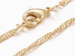 Acheter Collier 44,5 cm - chaîne Singapour - doré à l'or fin 18 K - 3,59€ en ligne sur La Petite Epicerie - Loisirs créatifs