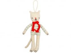 Acheter 1 Décoration arbre de Noël Chat tricoté - 12,49€ en ligne sur La Petite Epicerie - Loisirs créatifs