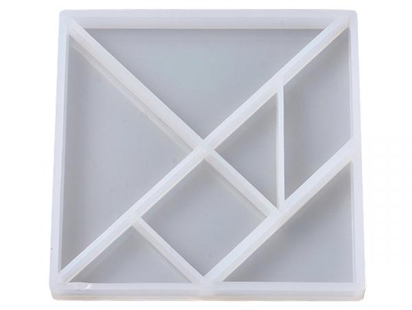 Acheter Moule en silicone - Carré avec formes géométriques - 5,19€ en ligne sur La Petite Epicerie - Loisirs créatifs