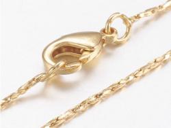 Acheter Collier 45 cm - chaîne serpentine - doré à l'or fin 18K - 3,59€ en ligne sur La Petite Epicerie - Loisirs créatifs