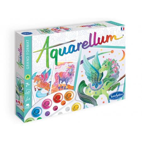 Acheter Aquarellum - licornes et pegases - 15,99€ en ligne sur La Petite Epicerie - Loisirs créatifs