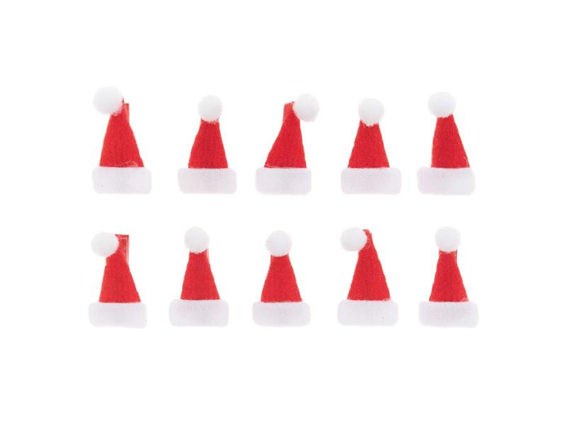 Acheter 10 mini pinces en bois - bonnets de père Noël - 3,69€ en ligne sur La Petite Epicerie - Loisirs créatifs