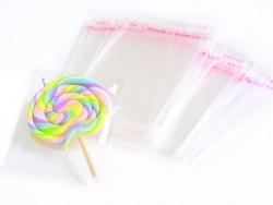 200 sachets plastiques transparents adhésifs - 9x12cm