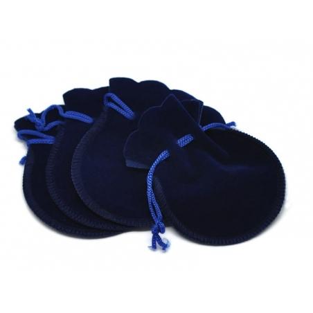 Night blue velvet bag