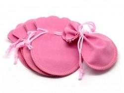Pochette rose bonbon en velours