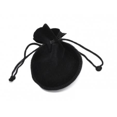 Pochette noire en velours
