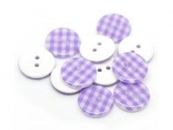 Acheter Bouton plastique rond 15 mm - vichy mauve - 0,49€ en ligne sur La Petite Epicerie - Loisirs créatifs