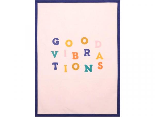 """Acheter Torchon """"Good vibration"""" coton - 45,7 x 63,5 cm - 7,49€ en ligne sur La Petite Epicerie - Loisirs créatifs"""