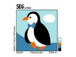 Acheter Kit canevas pingouin pour enfant - 20 x 20 cm - 13,49€ en ligne sur La Petite Epicerie - Loisirs créatifs