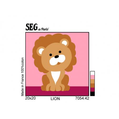 Acheter Kit canevas lion pour enfant - 20 x 20 cm - 13,49€ en ligne sur La Petite Epicerie - Loisirs créatifs
