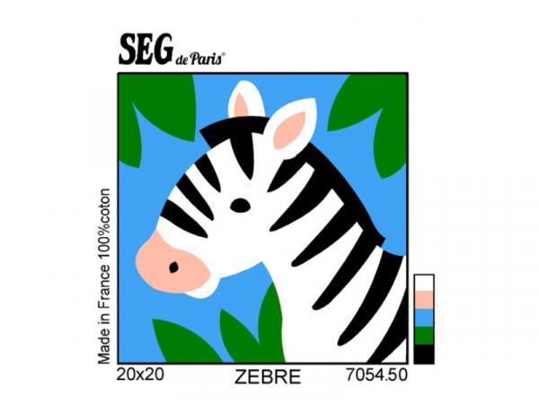 Acheter Kit Canevas Zèbre pour enfant - 20 x 20 cm - 13,49€ en ligne sur La Petite Epicerie - Loisirs créatifs