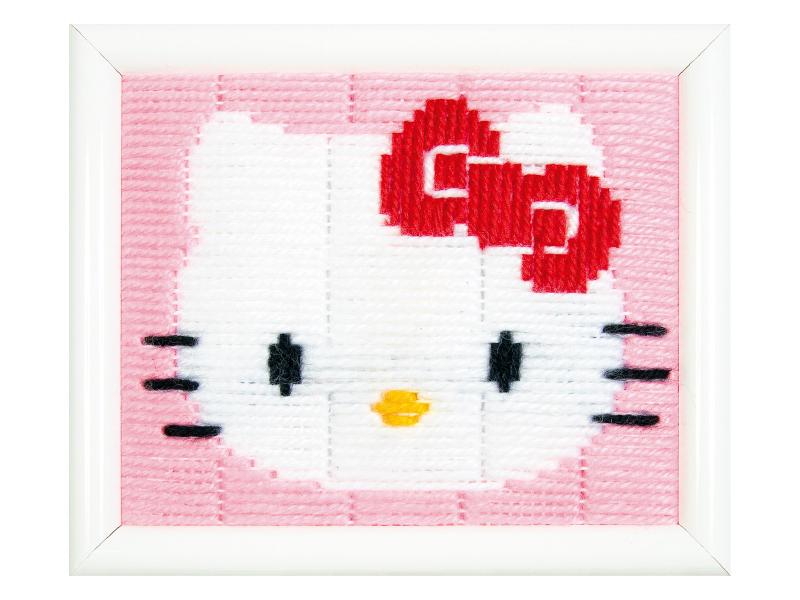 Acheter Kit canevas pour enfant Hello Kitty - point lancé - 19,99€ en ligne sur La Petite Epicerie - Loisirs créatifs